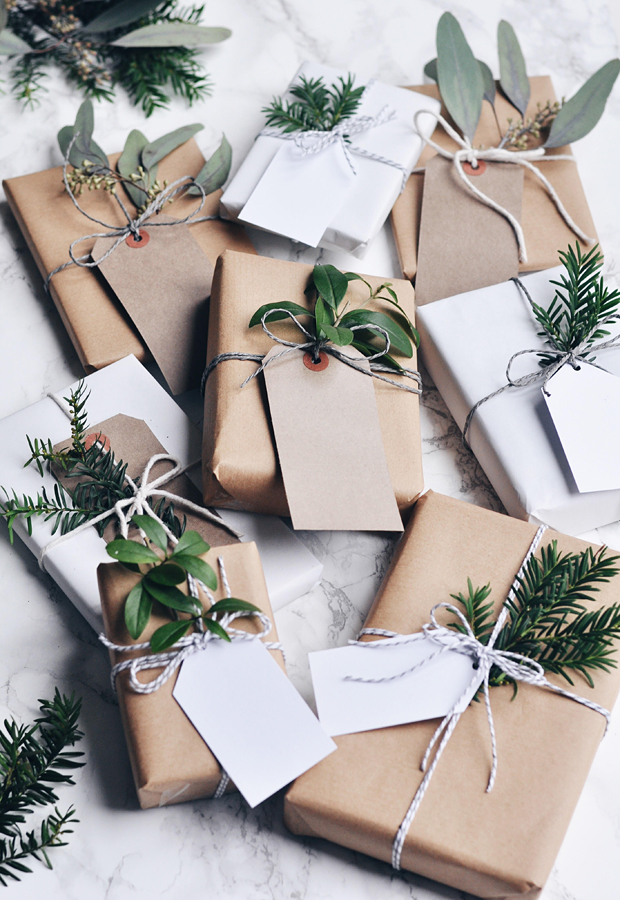 How To Wrap Christmas Presents.Festive Wrapping Inspiration These Four Walls